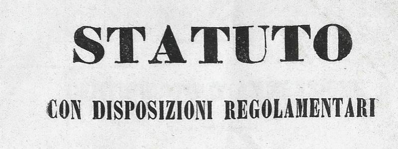 Il primo statuto del 23 novembre 1869_stampato nel 1870