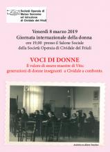 Giornata Interazionale della donna 2019